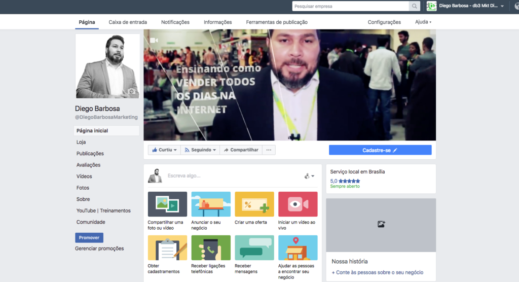 Como criar e personalizar sua Página e Perfil no Facebook